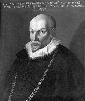 Orlande de Lassus (1535-1594), composer