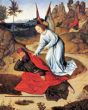 Dieric Bouts - Prophet Elijah in the Desert - ...