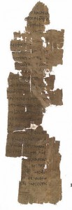 Fragment of John 16:14-22 from Papyrus Oxyrhynchus 208 (Image via Wikipedia)