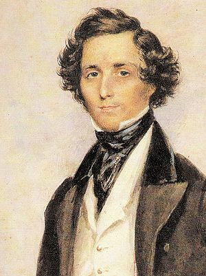 English: The Portrait of Felix Mendelssohn
