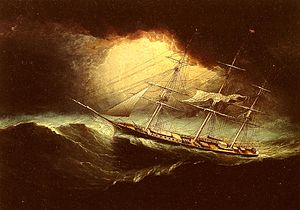 English: Ship In A Storm