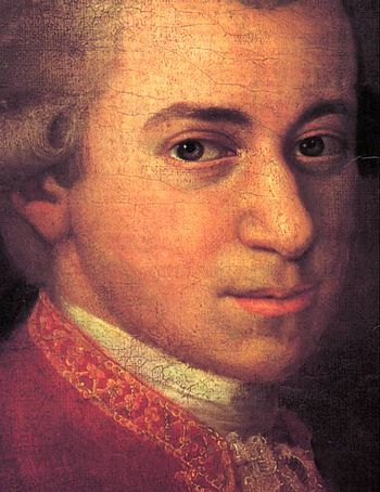 Mozart, about 1780. Detail of Mozart family po...