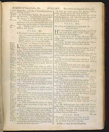 English: Psalm 90 of The Holy Bible, King Jame...