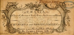 Page from Urania : or a choice collection of Psalm-tunes, anthems, and hymns