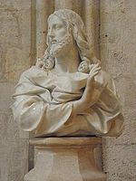 Statue of Jesus giving his blessing, Notre-Dame Cathedral