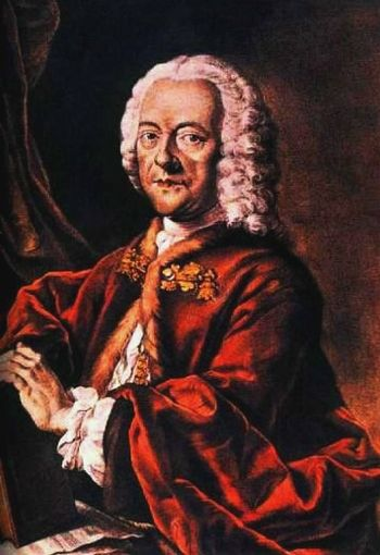 Georg Philipp Telemann (1681-1767), coloured a...