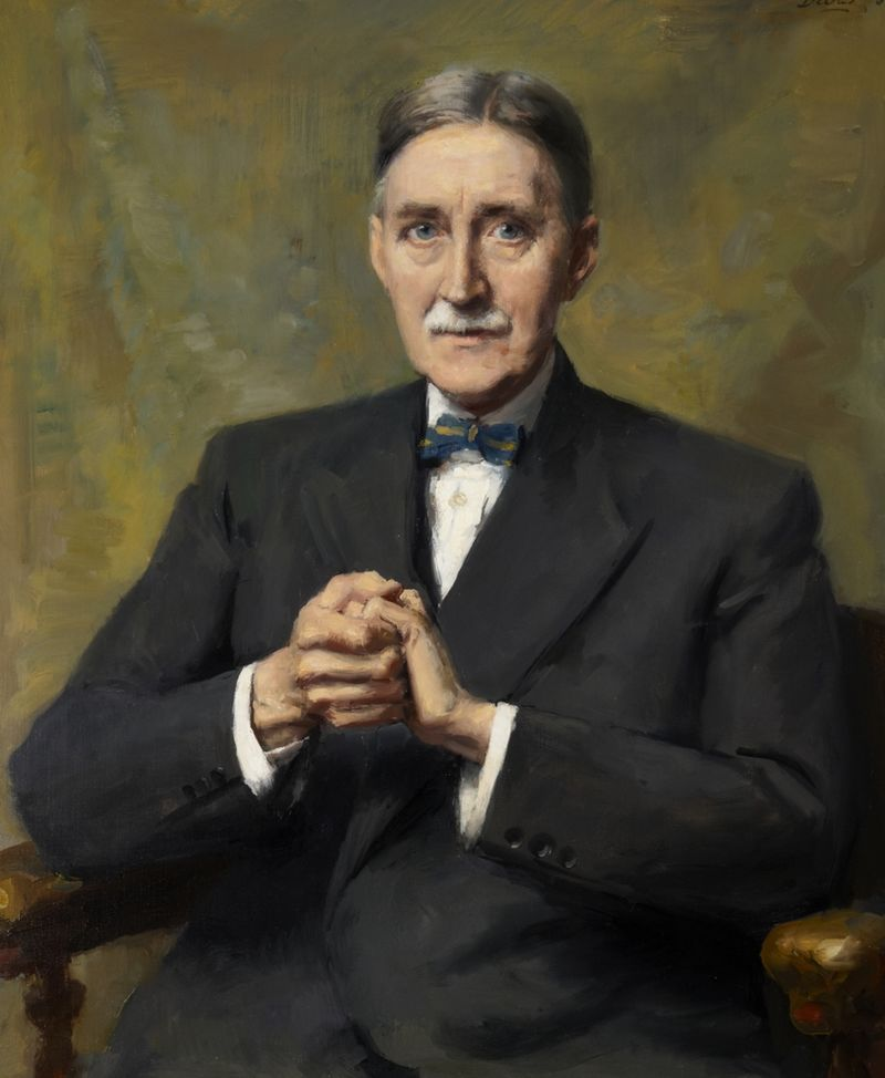 Portrait painting of Sir George Dyson by Anthony Devas, 1952