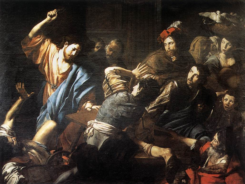 Christ Driving the Money Changers out of the Temple, by Valentin de Boulogne