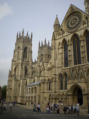 York Minster church as seen from across the st...