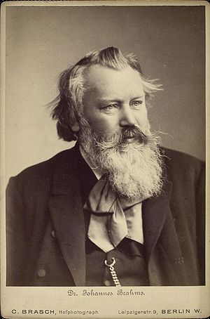 Johannes Brahms (1833–1897), German composer, 1889
