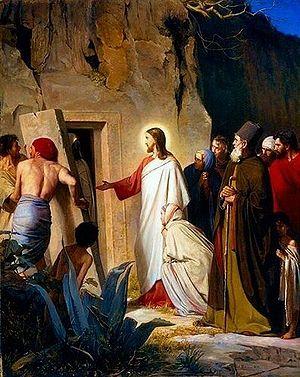 Raising of Lazarus by Jesus