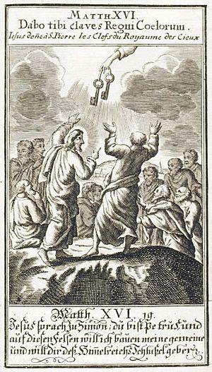 Deutsch: Matthäus XVI. 19. Jesus sprach zu Sim...