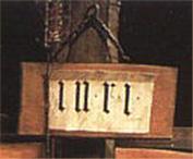Deutsch: INRI des Isenheimer Altares