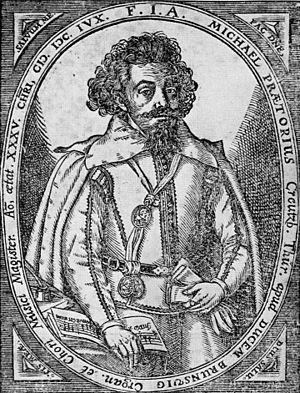 English: Michael Praetorius (1571-1621); 1606;...