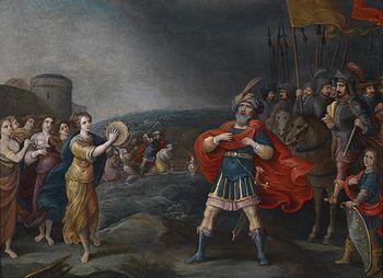 Hieronymus Francken III Jephthah meets his dau...