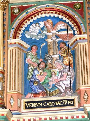 English: Ribe Cathedral. Pulpit ( 1597 ): Nati...