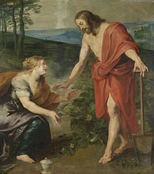 Mary of Magdala recognizing Jesus, workshop of Peter Paul Rubens