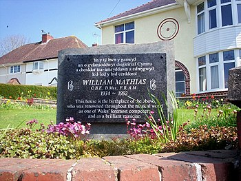 English: Memorial to William Mathias, North Ro...