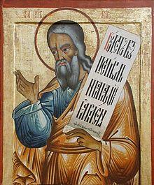 Russian icon of the Prophet Isaiah, 18th century (iconostasis of Transfiguration Church, Kizhi monastery, Karelia, Russia)